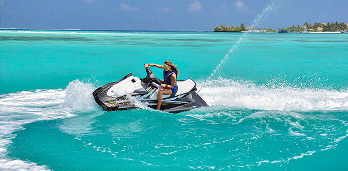 Jet Skiing at Kandooma